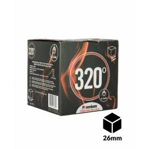 charbons 320 cubes 26mm 1kg