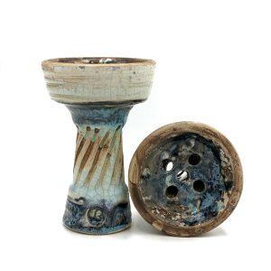 Clay hookah bowl Vintage Evil Tower